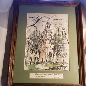Vintage Framed Print of a Cathedral Church School